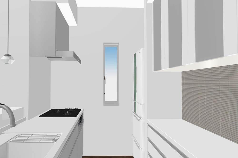 キッチンの窓(こうなる予定)