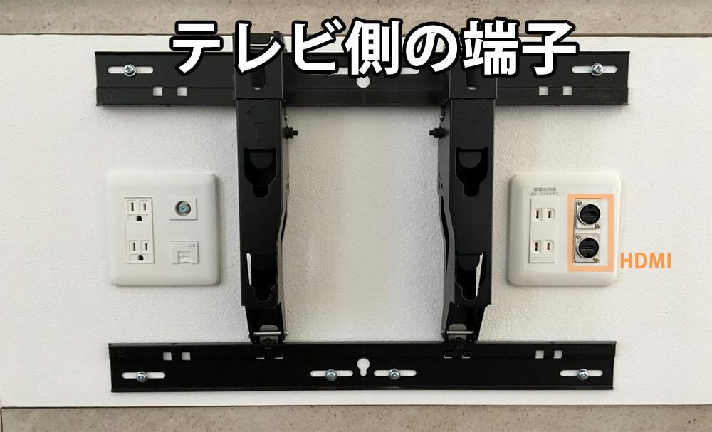 壁掛けTVと壁内配線(テレビ側の端子)