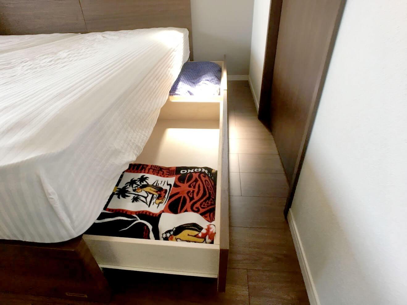 6畳の寝室にシングルベッド2台置きした時の通路幅2