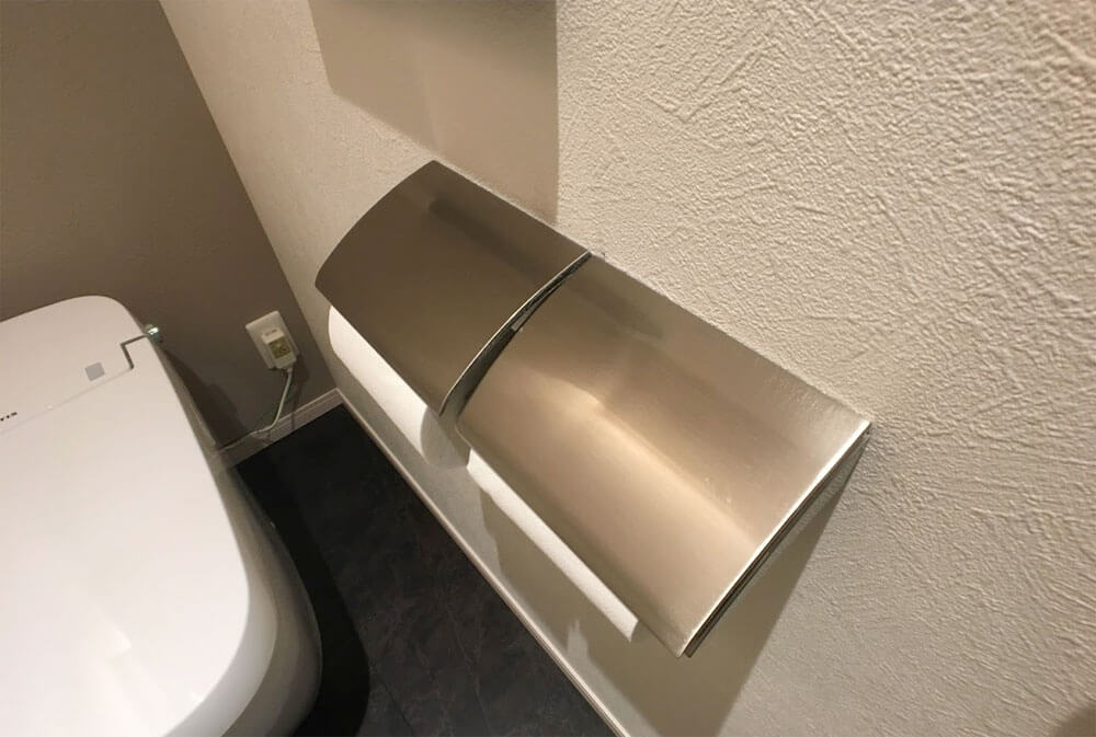 Web内覧会-1階トイレのペーパーホルダー