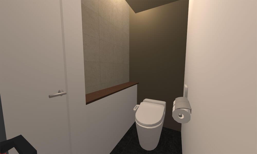 マイホームデザイナー3Dで作ったトイレのパース