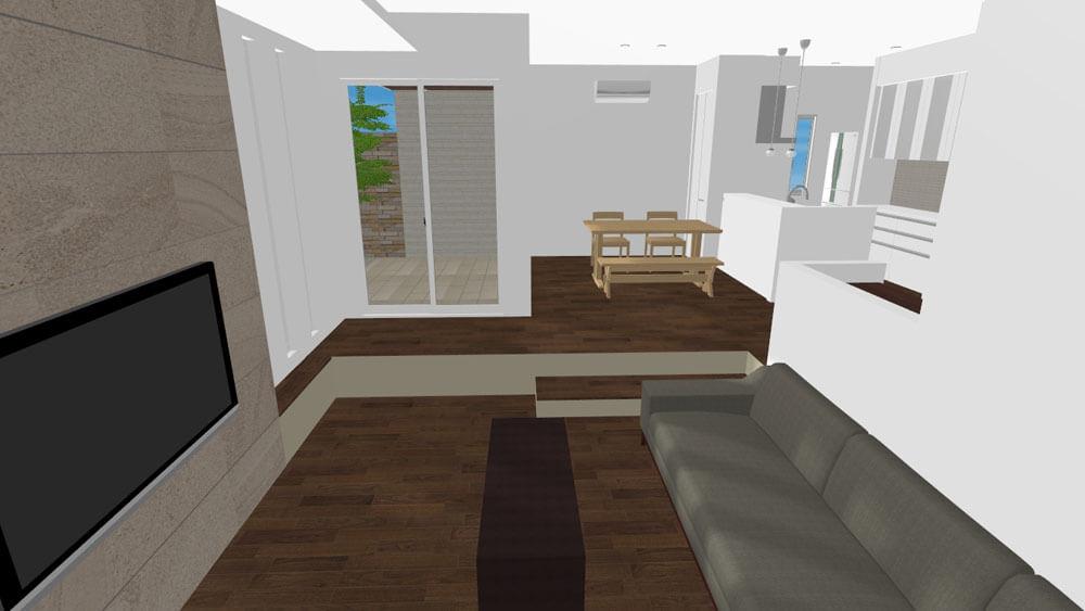 マイホームデザイナー3Dで作ったLDKのパース