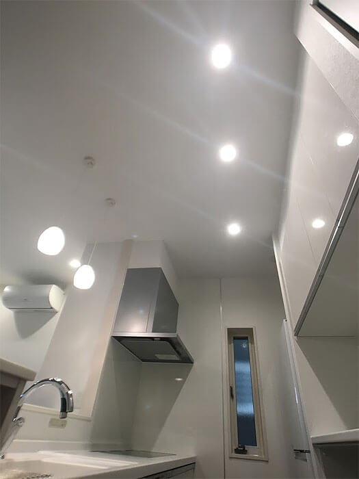 Web内覧会-キッチンの照明