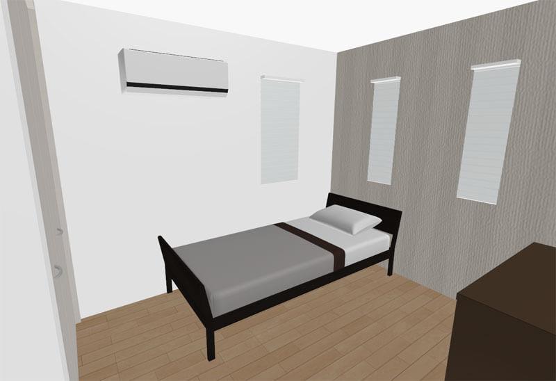 2階寝室のレイアウト